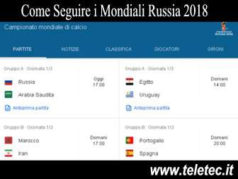 Come Seguire i Mondiali Russia 2018 Gratis e in Streaming
