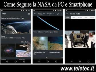 Come Seguire la NASA da Smartphone e PC