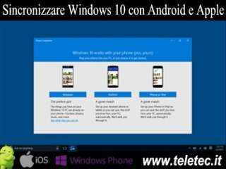Come sincronizzare e gestire con windows 10 android iphone e ipad