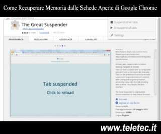 Come Sospendere le Schede Aperte in Google Chrome per Recuperare Memoria