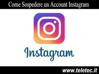 Come Sospendere un Account Instagram