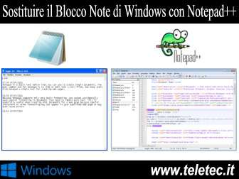 Come Sostituire Blocco Note di Windows con Notepad++