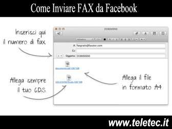 Come Spedire Fax da Facebook, Internet, Android e iOS