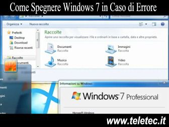 Come Spegnere Windows 7 in Caso di Errore su Spegnimento