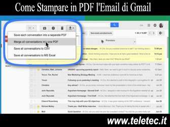 Come Stampare in PDF la Posta Elettronica di Google Gmail - Save emails to PDF
