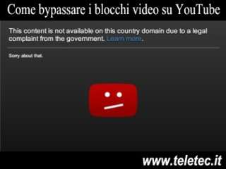 Come Superare i Blocchi dei Video su YouTube