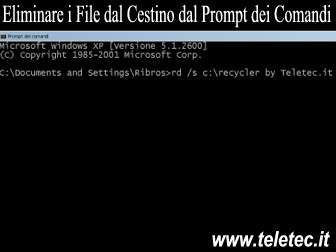 Come Svuotare il Cestino di Windows dal Prompt dei Comandi