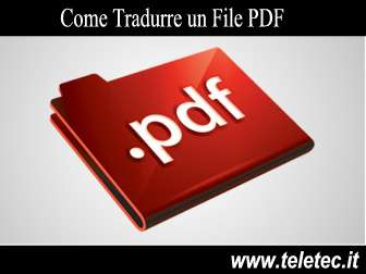 Come Tradurre un File PDF