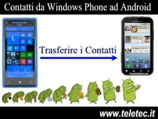 Come Trasferire i Contatti da Windows Phone ad Android