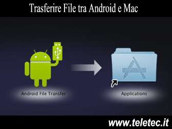 Come trasferire file tra android e mac