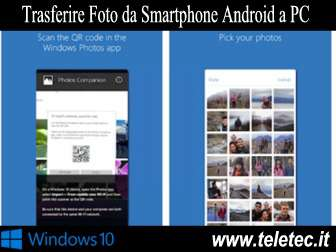 Come trasferire foto e video da android a windows 10