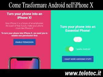 Come Trasformare Android nell'iPhone X