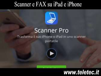 Come Trasformare iPhone e iPad in Scanner e FAX