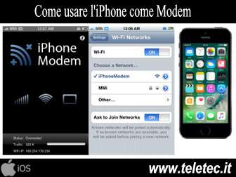 Come Trasformare l'iPhone in un Modem
