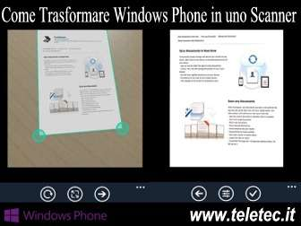 Come Trasformare Windows Phone in uno Scanner