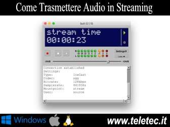 Come trasmettere audio in streaming con butt e icecast