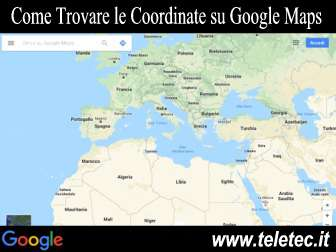 Come trovare le coordinate su google maps