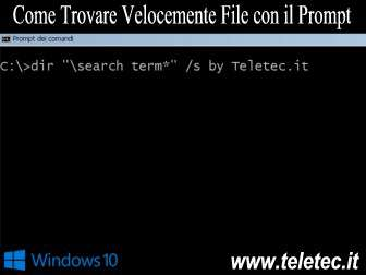 Come Trovare Velocemente File con il Prompt dei Comandi Dos su Windows