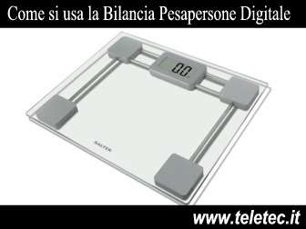 Come usare la bilancia pesapersone digitale
