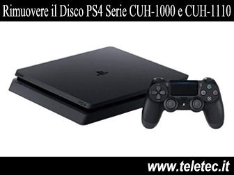 Come Uscire un Disco da una PS4 Spenta Serie CUH-1000 e CUH-1110