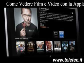 Come Vedere Film e Video con la Apple TV