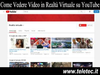 Come Vedere Video in Realtà Virtuale su YouTube