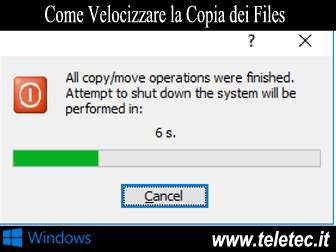 Come Velocizzare la Copia dei Files su Windows
