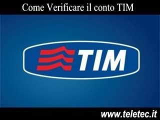 Come verificare il conto tim dallitalia e dallestero