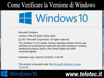 Come Verificare la Versione di Windows 10