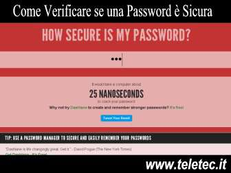 Come Verificare se una Password è Sicura