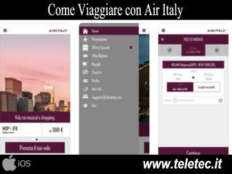 Come Viaggiare con Air Italy e iOS