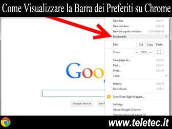 Come Visualizzare la Barra dei Preferiti su Google Chrome