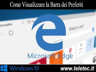 Come Visualizzare la Barra dei Preferiti su Microsoft Edge