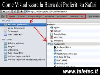 Come Visualizzare la Barra dei Preferiti su Safari