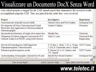 Come Visualizzare un Documento DocX Senza Microsoft Word