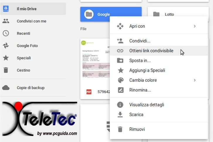 Come Condividere Files, Cartelle e Documenti con Google Drive