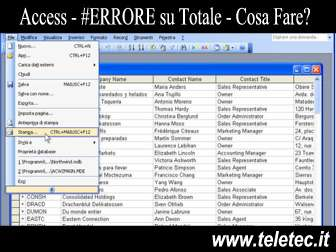 Cosa Fare in caso di #ERRORE sui Totali di Access