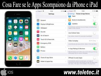 Cosa Fare se le Apps Scompaiono da Sole su iPhone e iPad