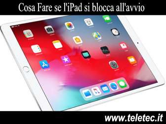Cosa Fare se l'iPad si Blocca all'Avvio - Hard Reset iPad