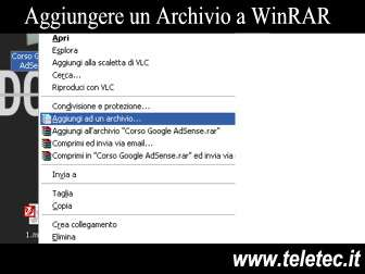 Come comprimere e proteggere con password un archivio rar