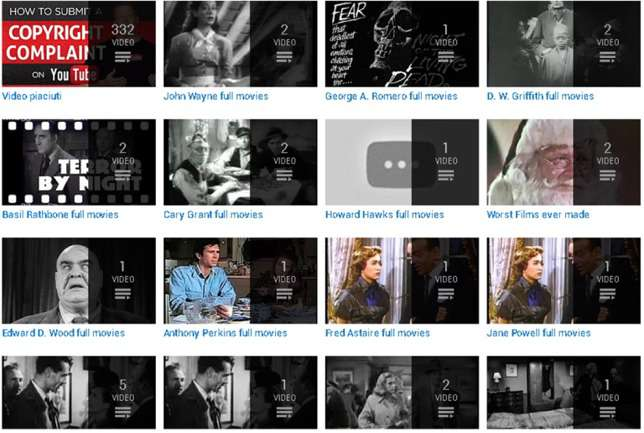 Screenshot Playlist Public Domain Full Movies